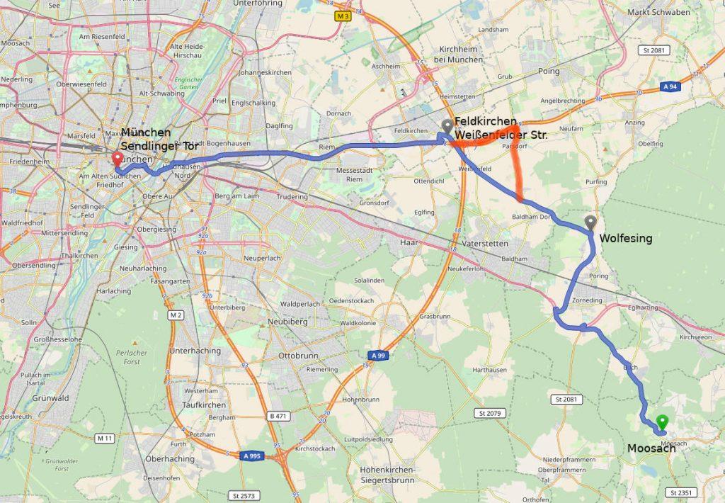 Verkehr Mit Bahn Bus Pkw Ferienwohnung